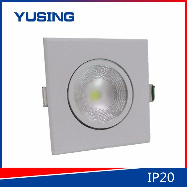 Single Color Temperature COB Lamp Fixture 5W Spotlight IP20 Square <strong>Downlight</strong> LED Down Light