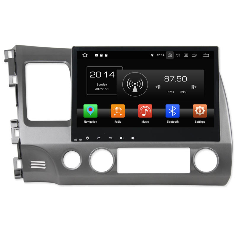 KANOR 10.1 inch Android 8.0 Car Video For Honda CIVIC 2006 2007 2008 2009 2010 2011 Touch Screen Car Multimedia System WIFI Map
