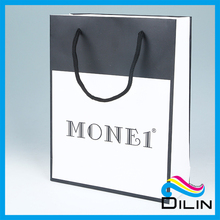 China sale simple design exquisite gift paper business shopping bag