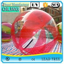 alibaba Gold Supplier chinese colorful TPU inflatable water ball with number on sale