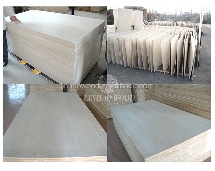 Factory Supply Paulownia Finger Joined Boards /Paulownia Cutting Board / Paulownia Wood for Surfboards