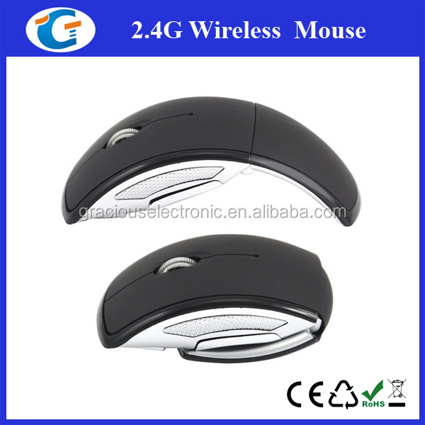 folded 2.4g wireless mouse for mac book