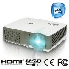 cheap 2500 lumen HD TV home cinema 3d led lamp lcd projector