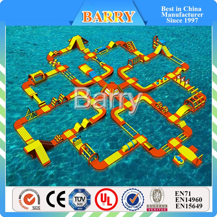 Giant Inflatable Floating Water Park , Adult Inflatable water obstacle course for Sea, Lake, Commercial Pool, BYFWP-01