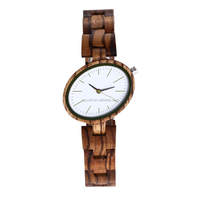 Fashion Zebra wood quartz watch wholesale oem custom logo with provate lable