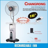 Whosesale hot selling water mist rechargeable fan stand fan