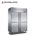 R021 Fancooling Four Door Commercial Refrigerator Deep Freezer