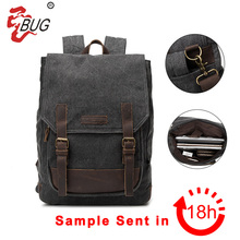 2017 High Quality Cheap Fashionable Printed Durable Custom 16oz Canvas Men Laptop Backpack