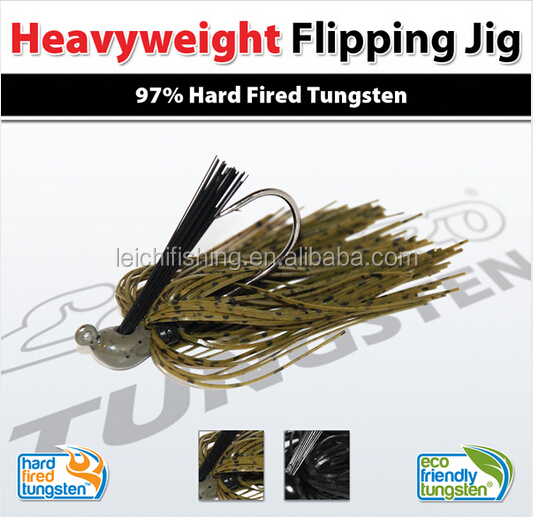 high quality 97% hard fired tungsten heavyweight flipping fishing jig