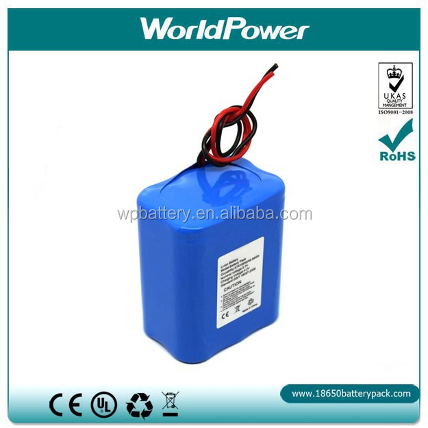 18650 lithium battery pack 4400mAh 14.8V rechargeable battery pack