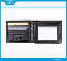 New Style RFID Blocking Genuine Man Leather Wallet