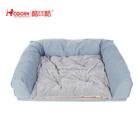 Hot sale sofa fabric soft polyester plush pet bed dog