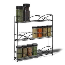wall mounted metal contemporary spice rack