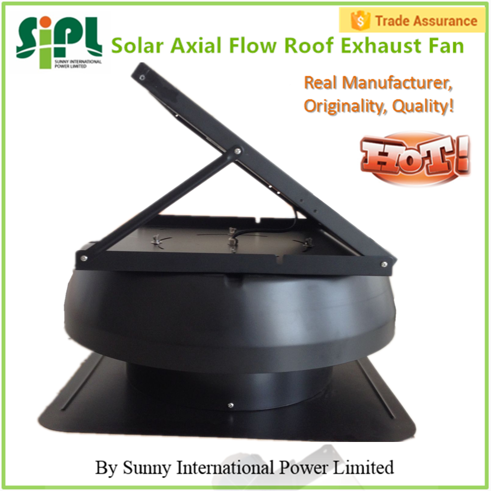 Solar Roof Vent Fan With Rechargeable Battery
