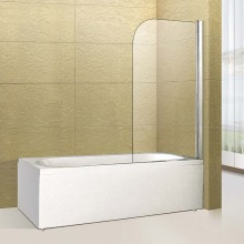 hot sale 304 stainless steel adjustable frame double sliding shower screen