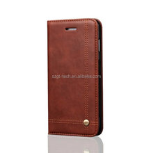 New premium retro leather wallet covers phone case for iphone X,classic leather magnetic phone case for iphone X