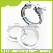 Manufacturer suppliy! Carbon Steel 2inch V Band hose clamp grooved two flanges with motorcycle engine parts
