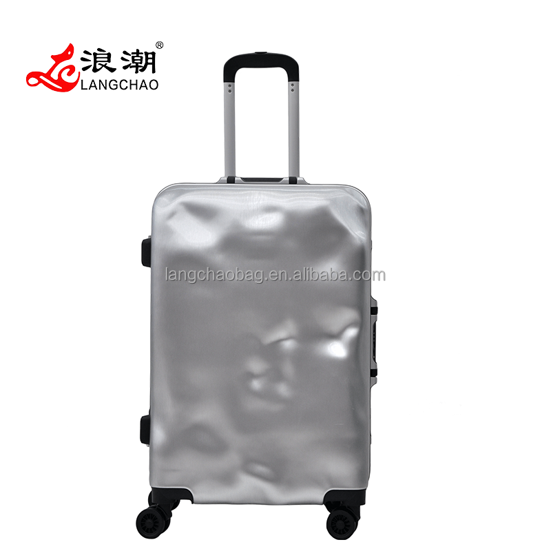 2016 Fashion Solid Color ABS+PC 2pcs/set Travelling Luggage