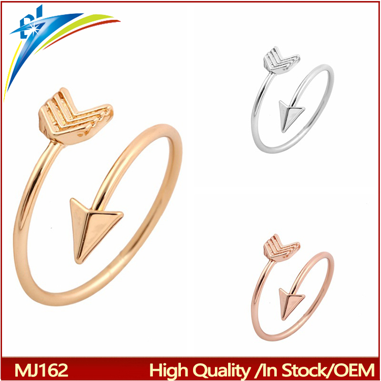 2017 Jewelry Cute Adjustable Arrow Finger Ring Stretch Knuckle Rings for Women