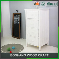Wholesale Drawer Cabinet White Wood Furniture