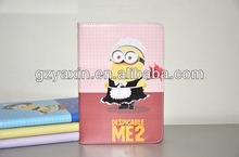 Despicable me 2 minions leather case cover with st,Despicable Me 2 Minion Dave Case Leather Pouch Stand Cover for iPad mini