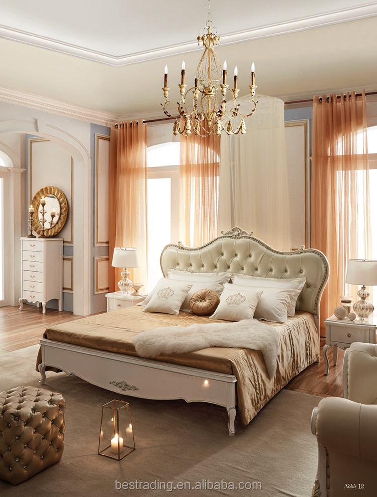 Classic Design Wooden royal furniture bedroom sets italian bedroom ...