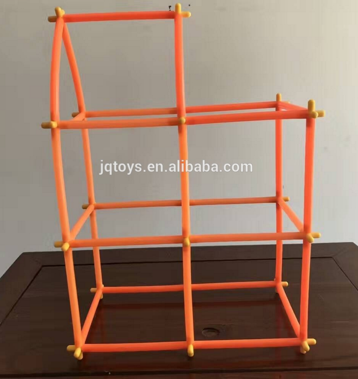 Educational china toy soft plastic pipe connecting building block