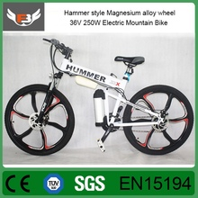 Factory Promotion Hammer style Mg alloy wheel Electric mountain bike