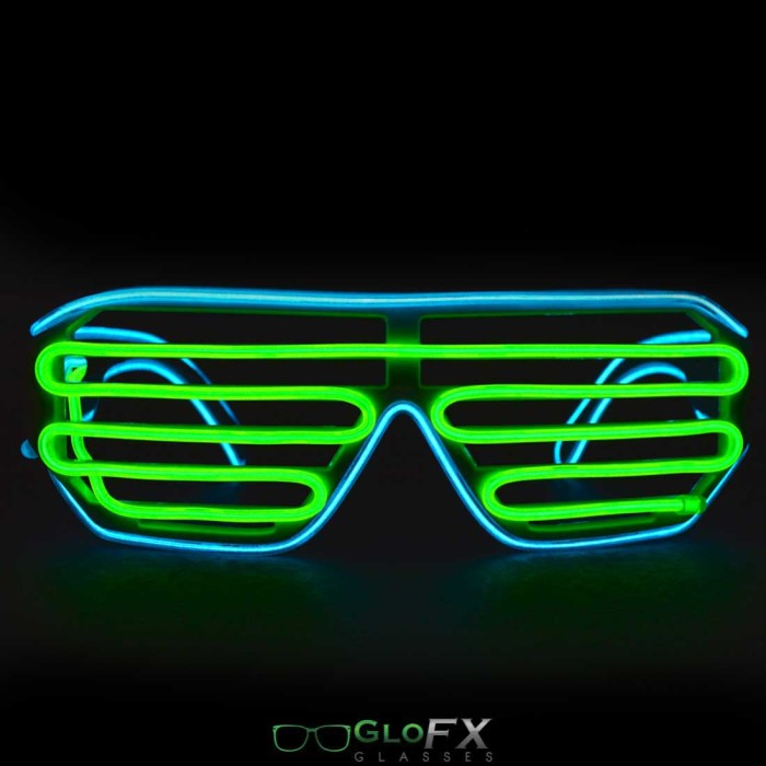 el shutter glasses with battery case, led light glasses, light up glasses for Christmas