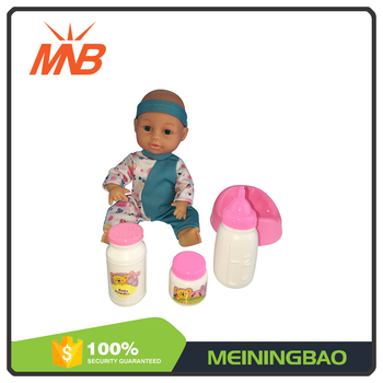 2017 new arrival 10 inch lovely baby boy drink milk reborn doll kits with bottle