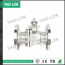 YAD-LOK Base Cf8M Stainless Steel 2Pcs Flange Type Ball Valve With Mounting Pad