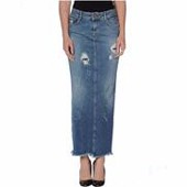 Latest plus size long denim skirt for women wear from guangzhou garment manufacture