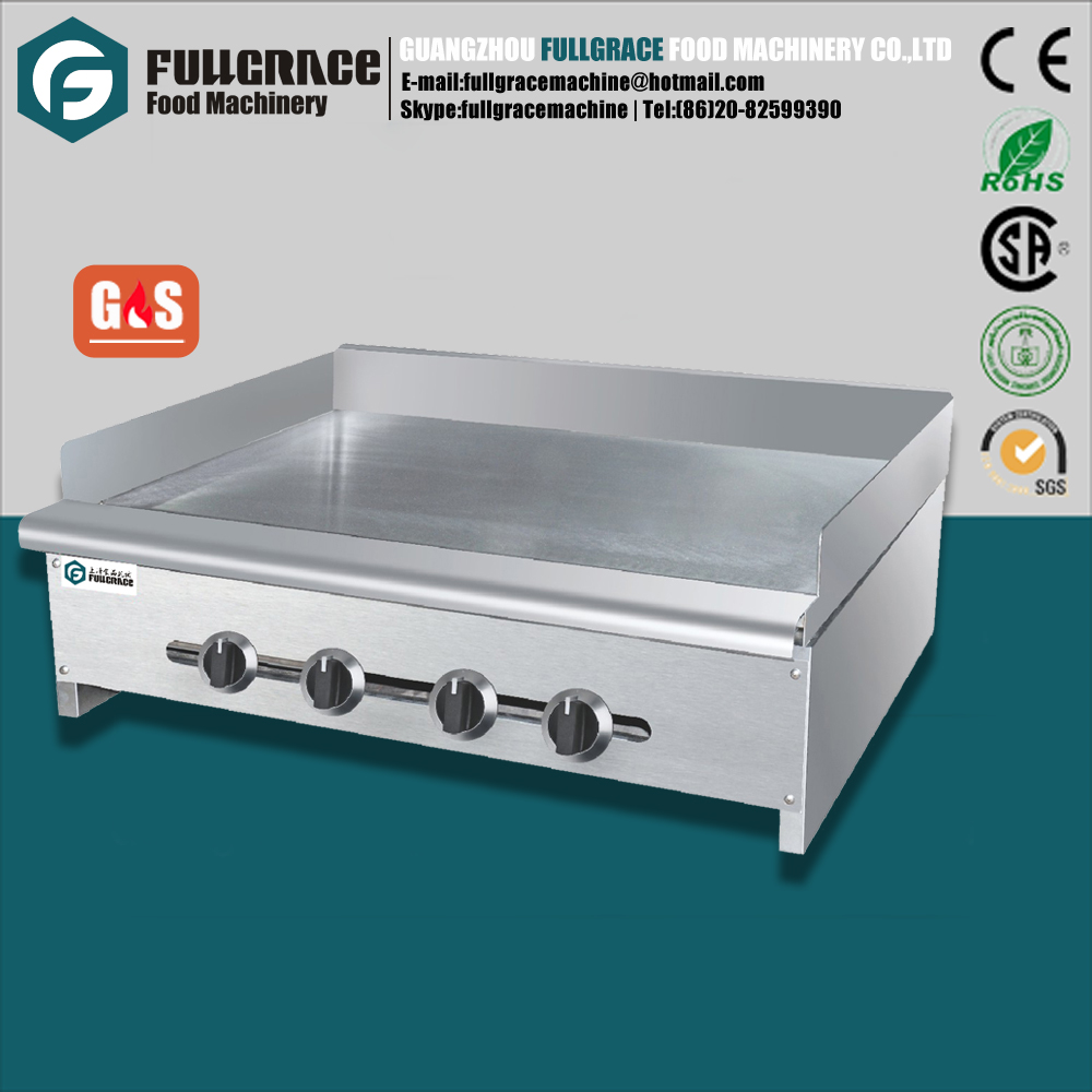 large capacity stainless steel flat plate commercial gas griddle/ teppanyaki grill with 4 independent switch