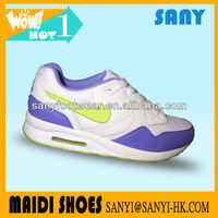 2016 Best Selling Colorful PU&Mesh Brand Air Ladies Fashion Running Women Sports Footwear
