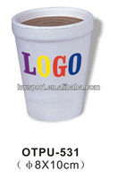 cup shape anti stress ball,stress reliever