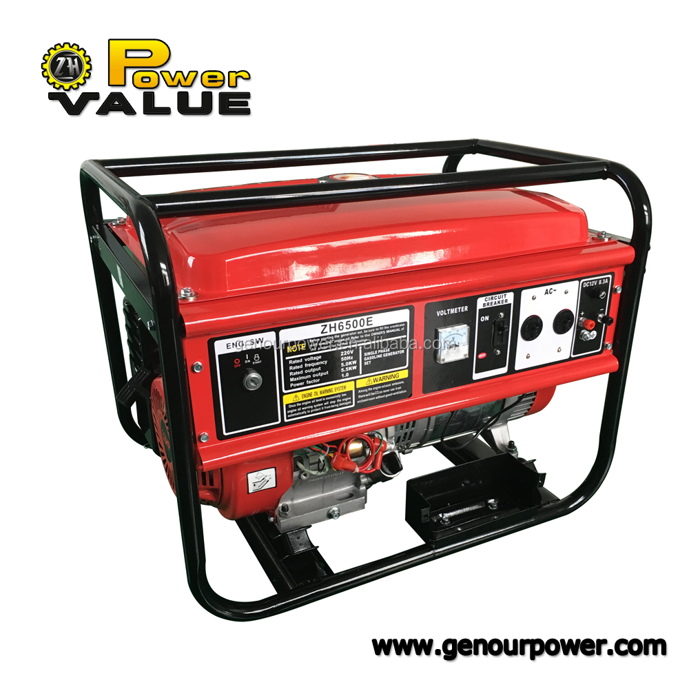 Gasoline Small Generator 5kw 3 Phase Genset Generator Small Genset