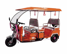 6 Passengers Battery Driving Electric Auto Rickshaw Tricycle With Roof On Sale