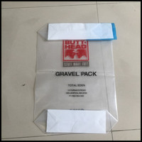 Durable&Elegent Laminated Polypropylene Valve Bag , PP Woven Bag with Bottom Valved for 25kg Packing dimension