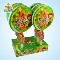 EN-068 flat mega lollipop candy