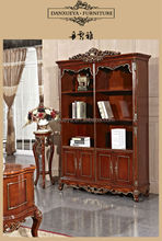 Royal Classical Antique Wood Carved Bookcases