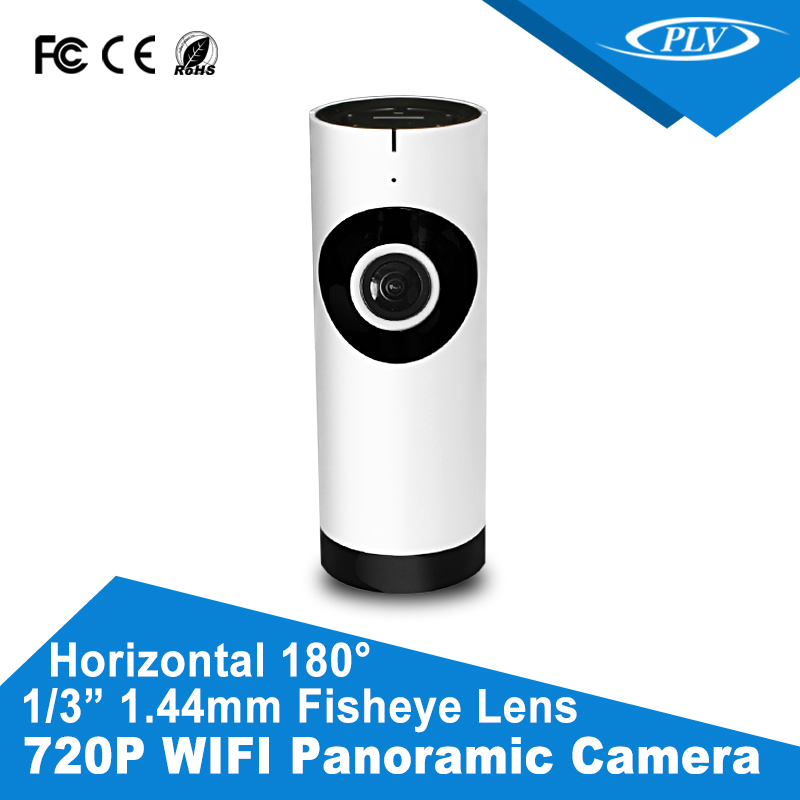 "H.264 ir wifi 1Megapixel fisheye IP Camera with 1/3"" 1.44mm Fisheye Lens"