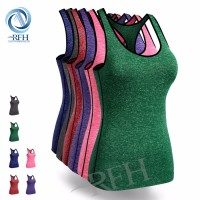High quality OEM design gym shirts quick dry sweat fabric cooling vest for women