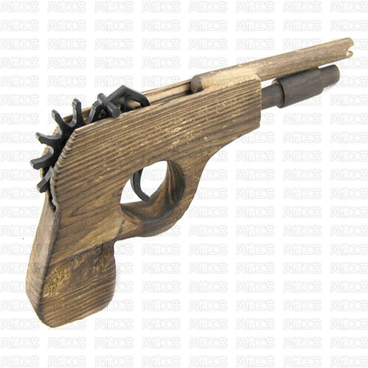 Hot sale wholesale high quality kids short wooden rubber band <strong>gun</strong> wooden toy <strong>gun</strong>