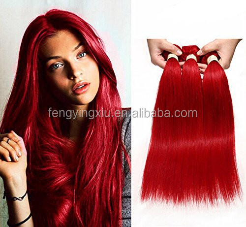Factory direct selling 8a grade red brazilian hair weave