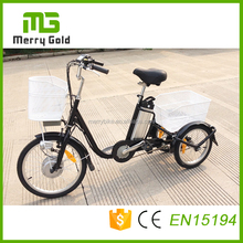 OEM factory customized 36v steel cargo three wheel adult electric tricycle