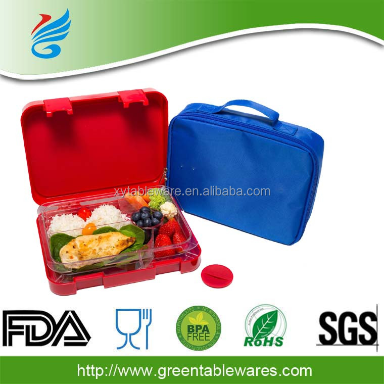 Good quatity lunch bento box plastic container with locking lid eco friendly container leakproof bento box