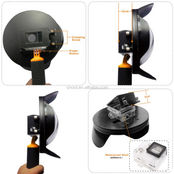 2016 wholesale NEW SHOOT 6 inch GoPro Dome Port with Lens hood for GoPro Hero 3+/4 2.0 version