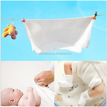 High Quality 100%Cotton Baby white Flat Cloth Diapers