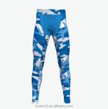 Wholesale Gym Compression Camo Custom Sublimation Printing Yoga Fitness Wear Men Running Tight