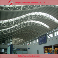 Pre engineered metal truss galvanized roof construction design